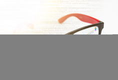 Vision concept with eyeglasses design. Stock Image