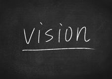 Vision. Concept word on blackboard background Royalty Free Stock Image