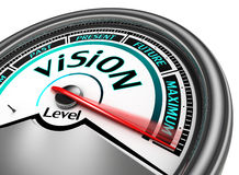 Vision conceptual meter indicate maximum Royalty Free Stock Photo