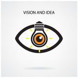 Vision and creative light bulb idea concept , eye symbol Royalty Free Stock Photography