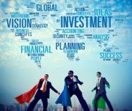 Vision d'investissement prévoyant le concept global de succès financier Photo libre de droits