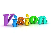 Vision 3d word colour bright letter Royalty Free Stock Photo