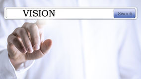 Vision database search Royalty Free Stock Image