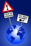 Vision de la terre Images stock