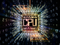 Vision de processeur de Digital Photographie stock