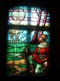 Vision de saint Hubert le patron de saint des chasseurs image libre de droits
