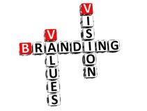 Vision des Branding-3D bewertet Kreuzworträtsel vektor abbildung