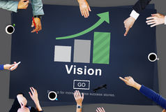 Vision Direction Future Inspiration Mission Plan Concept Stock Photo