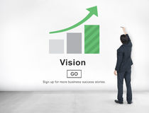 Vision Direction Future Inspiration Mission Plan Concept Stock Image