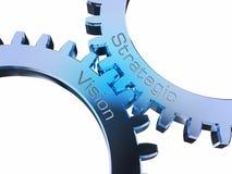 Vision estratégico en ruedas dentadas libre illustration