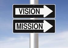 Vision et mission Image libre de droits