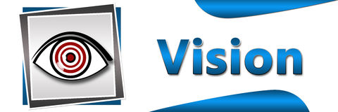 Vision Eye Banner. Conceptual banner image for vision with eye and target board royalty free illustration