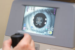 Vision eye test Royalty Free Stock Image