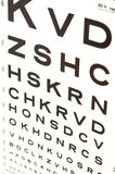 Vision eye test chart Stock Images