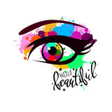 Vision för synförmåga för blick för ögonglob för svart för människa för vektorillustrationöga vit stock illustrationer