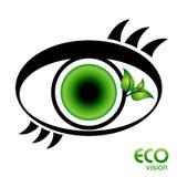 vision för ecoögonsymbol Royaltyfri Fotografi