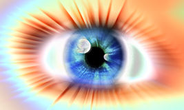 The vision of fright. The eye with vision of fright Royalty Free Stock Image