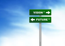 Vision and Future Road Sign Royalty Free Stock Image