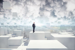 Vision of futuristic city Royalty Free Stock Images
