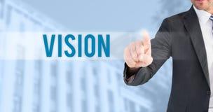 Vision gegen blauen Hintergrund Lizenzfreie Stockfotos