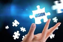 Vision gegen blauen Hintergrund mit Vignette Stockbilder