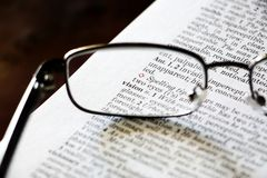 Vision glasses concept Royalty Free Stock Photography