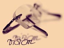 Vision glasses eye exam Royalty Free Stock Photos