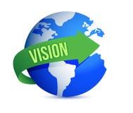 Vision globe Stock Photo
