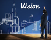 Vision Goals Building City Urban Concept Royalty Free Stock Images