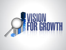 Vision for growth. business concept illustration Stock Photo