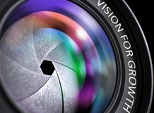 Vision For Growth Concept on Lens of Reflex Camera. Royalty Free Stock Photography