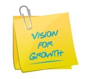 Vision for growth memo post illustration design Stock Photo