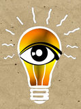 Vision and ideas sign,eye icon,light bulb symbol,search symbol Stock Photos