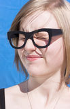 Vision Impaired Woman Royalty Free Stock Photography