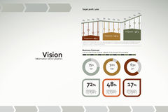Vision infographics with charts and statistics. Corporate infographics for reports and presentations Royalty Free Stock Images