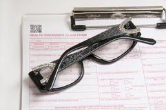 Vision Insurance glasses Royalty Free Stock Photo
