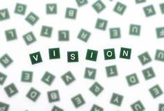 Vision - klara bokstäver mot suddigt Royaltyfria Foton