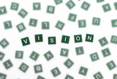Vision - klare Buchstaben gegen verwischt Lizenzfreie Stockfotos