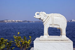 Vision of lake Pichola in Udaipur, India Stock Images