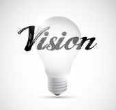 Vision light bulb sign illustration design Royalty Free Stock Photos