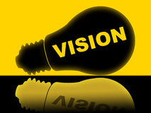 Vision Lightbulb Indicates Plans Plan And Target Royalty Free Stock Photo