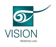Vision Logo. Logo Design for Business, Model, Art Agency Stock Image