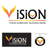 Vision Logo Design Stock Images
