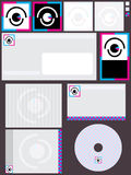 Vision Logo Set. Illustration of design vision logo theme set on brown background. --- This .eps file info Version: Illustrator 8 EPS Document: 9 * 12 Inches ( vector illustration