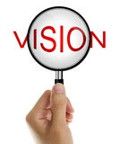 Vision in magnifying glass Royalty Free Stock Photos