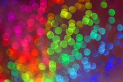Vision of many blurry dots with bokeh effect of many colors Stock Images