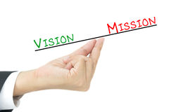 Vision and mission concept Royalty Free Stock Photo