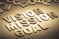 Vision mission Royalty Free Stock Images