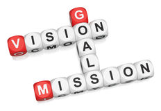 Vision, Mission, Goals Stock Image