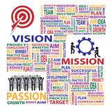 Vision Mission Passion present business concept Royalty Free Stock Photography